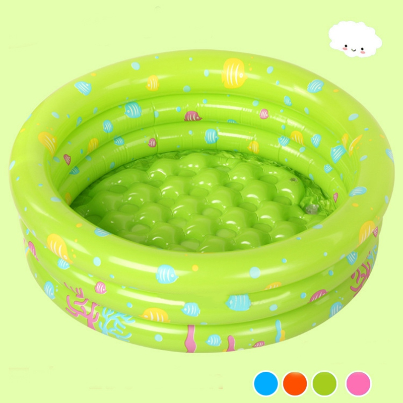 1PC Large 80*35CM Cartoon Inflatable Swimming Pool Safe PVC Ocean Balls Pool Baby Kids Bath Basin Green Baby Inflatable Pool