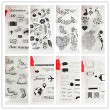 11*20cm Christmas and dialog Transparent clear Stamp For DIY Scrapbooking/Card Making/ Decoration Supplies(China)
