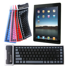 Universal Foldable Waterproof Silicone Wireless Bluetooth Keyboard Small Light XXM8(China)