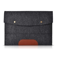 Felt Sleeve Handle Laptop Sleeve Pouch Cover Bag for iPad 2 3 4 iPad Air mini Case, Dark gray 13 inch
