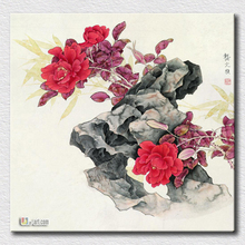 Hot sell paper prints Chinese artist paint for modern living room decoration canvas pictures in china cheap