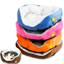 Puppy Pet Dog Cat Fleece Cozy Pet Dog Bed Warm Bed Flannel Soft Cotten Pet Sofa House Nest Mat Pad YX#123(China)