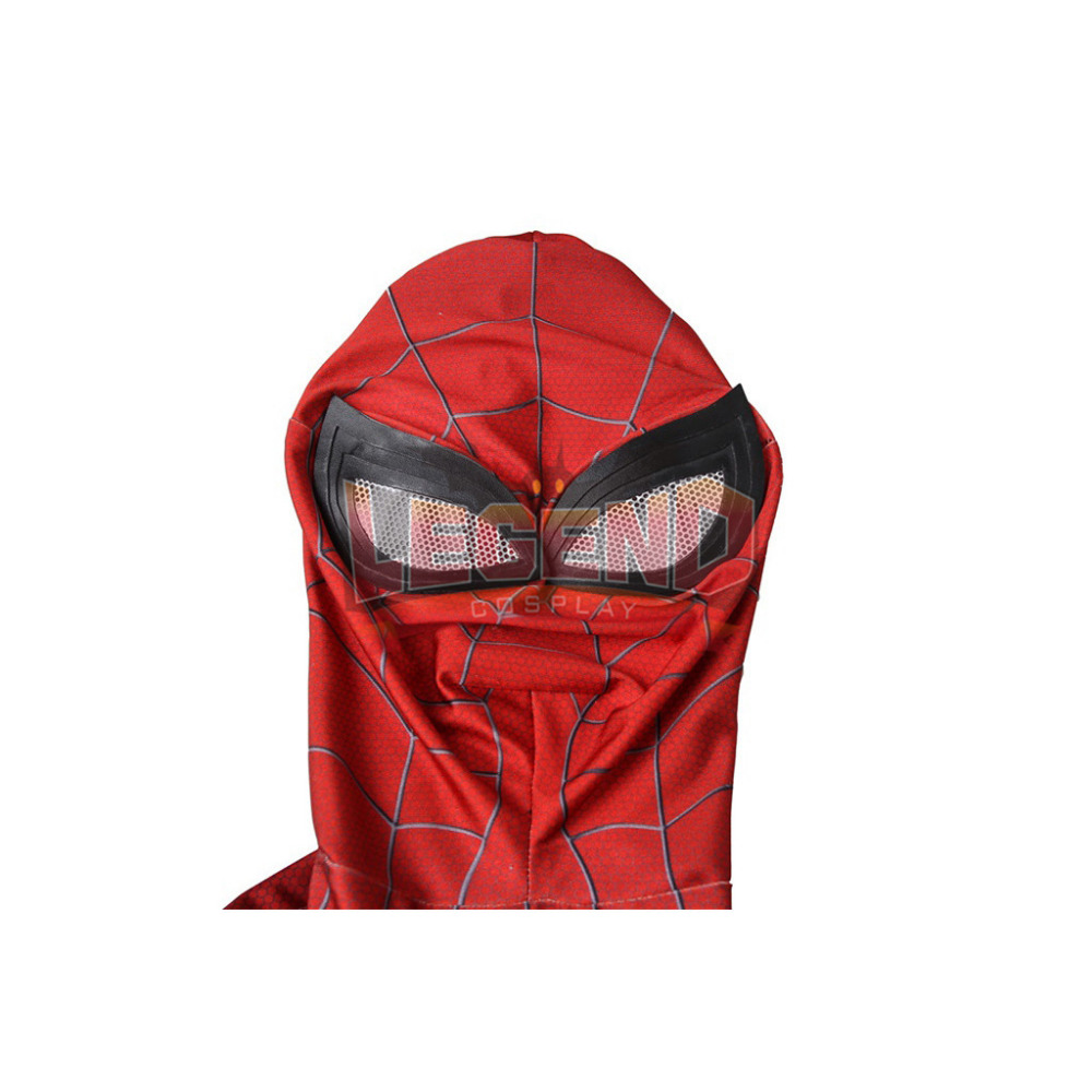 Spiderman Costume Jumpsuit PS4 Spiderman Spider-Man Costume Halloween Carnival Cosplay Costume For Men