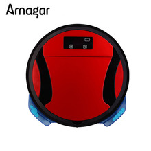 Arnagar  Mini Vacuum Cleaner Robotic Vacuum Cleaner for Home Double Roling Brush,Wet Dry Vacuum Mop,Auto Charge Sweeping Robot