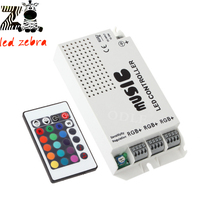 music ir controller with 24keys wireless ir remote control led music sound for rgb 5050 3528 5630 led strip(China)