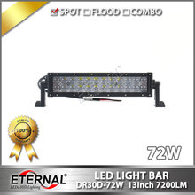 "6pcs 72W led light bar 13"" driving fog lamp powersports off road ATV UTV 4x4 truck farm tractor vehicles led working lamp"
