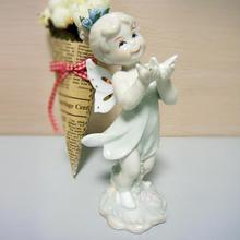 Very Cute Porcelain Fairy and Butterfly Figurine Decorative Ceramics Angel Sculpture Gift and Craft Accessories Embellishment(China)
