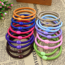 2015 New Fashion 100pcs/bag 10 Colours basic Hair Holder Rubber Bands Elastics Girl Women Hair Accessories Tie Gum Free Shipping(China)