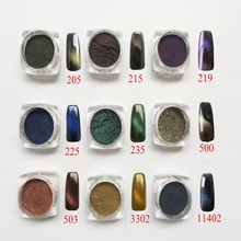 3D magnetic pigment,1Box 3D Cat Eyes Magnet pigment,Nail Glitter Powder,3D pigment,color shake pigment,quality first,widely used