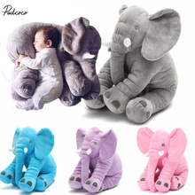 Elephant Toy Kids Long Nose Elephant Doll Pillow Soft Plush Stuff Toys Lumbar Pillow For Baby