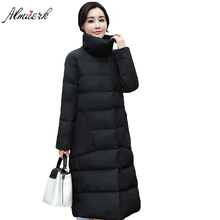 2017 new long women winter jacket Coat Stand collar long down cotton Parkar coat Female Leisure winter outwear women coats YZ364(China)