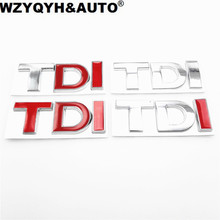 Car 3D TDI Badge Emblem Decal Sticker Logo for VW Golf JETTA PASSAT MK4 MK5 MK6 skoda seat Car styling car accessories(China)