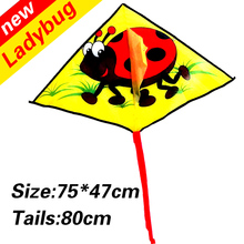 Hot sell new design kids bee kite 20 pcs/lot outdoor toys flying fabric nylon ripstop with handle line wei kite parafoil crafts(China)