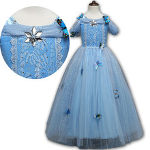 High Quality Girls Fantasy Cinderella Princess Dresses Ball Gowns Kids Sofia Rapunzel Lace Dress Girl Elsa Snow White Costume 10