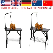 Stainless Steel Dog Grooming Table Folding Pet Grooming Table Professional Beauty Shop Grooming Desk For Small Animal(Hong Kong)