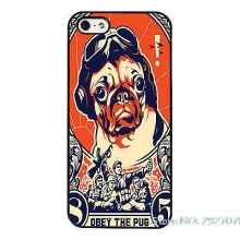 Pug Cute Obey Pet Dog Phone Case Cover For iPhone SE 4 4S 5S 5 5C 6 6S Plus 7 7Plus Samsung Galaxy S3 S4 S5 MINI S6 S7 Edge