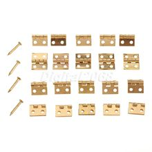 New Hot Selling 20pcs Decorative Vintage Mini Butterfly Hinges For Cabinet Bronze 1*0.8cm Size with Nails(China)