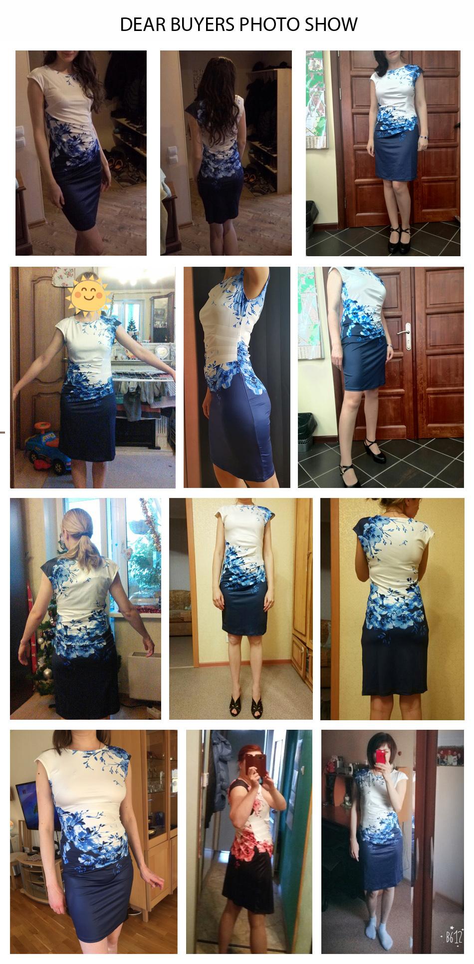 17 Kaige Nina dress Women bodycon dress plus size women clothing chic elegant sexy fashion o-neck print dresses 9026 18