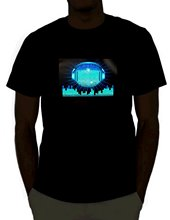 EmazingLights DJ Sound Activated Light Up Rave Shirt New Men Summer Tops Casuals Shirts Short-Sleeved Print Letters(China)