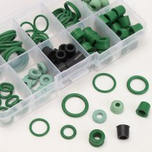 110PCS  Refrigeration Hose Gaskets O-Ring Repair Kit 8 Different Sizes Seal Kit Assortment Rubber Rings