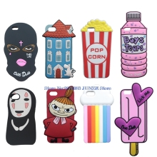 3D Cute Spray Paint Soft Case For iPhone 5 5S SE 6 6S Plus 7 Plus Moomin Case Dolls Detergent Popcorn Boys Tears Bottle Cover