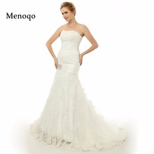 Buy Real Photo Long Train Sexy Mermaid Wedding Dresses gowns robe de mariage Vintage Vestido de noiva Lace wedding dress 2017 for $107.25 in AliExpress store