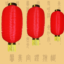 1 PC New Mid-Autumn Lantern Red Melon Cylinder Chinese Silk Lanterns Festive Lanterns Dance Props Festival Party Decorations(China)