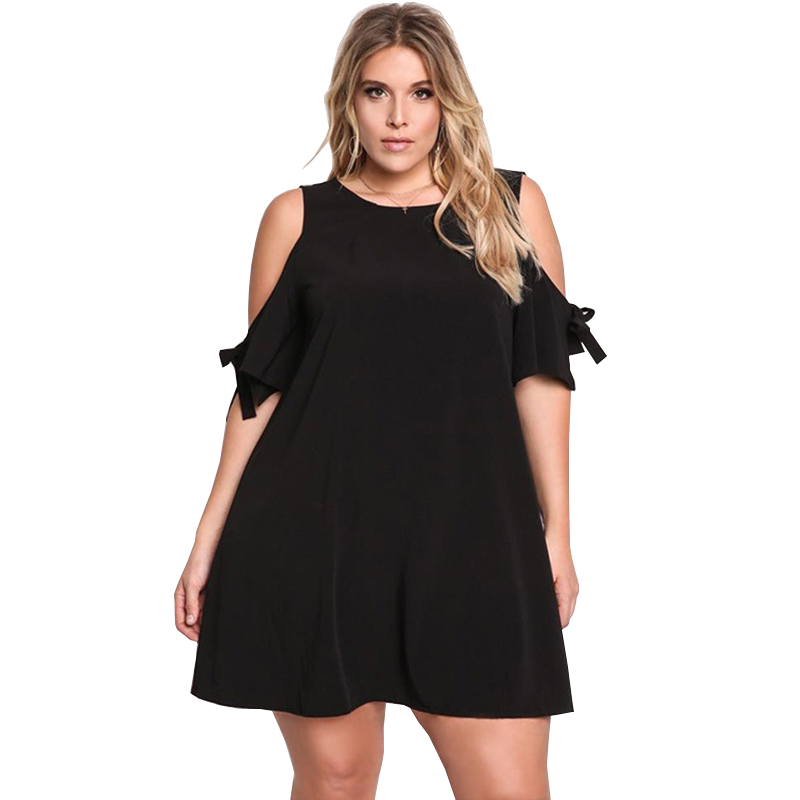 Vestidos Plus size Summer Dress Women's Clothing 2017 Europe New Fashion Casual Loose Large size Short Paragraph Dresses SJ22 G(China)