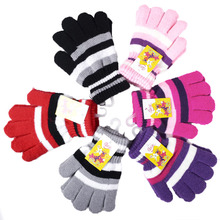 Children Girls Boys Kids Magic Stretchy Mittens Knitted Baby Gloves Winter Warmer New(China)