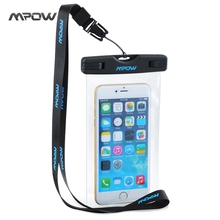 Mpow MBC3 Universal IPX8 Waterproof Pouch mobile phone Bag Hiking Surfing Ski Snowproof bag for iPhone 6S Plus Android Xiaomi