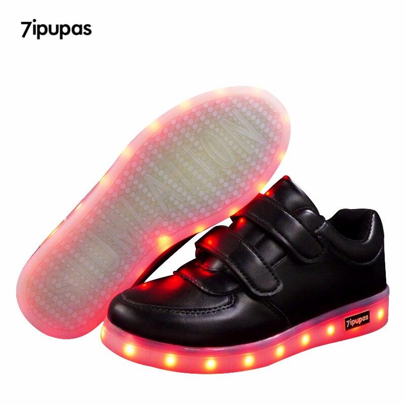 7ipupas Children Luminous Shoe Boy Girls Sport Running Shoe Baby Glowing Lights Fashion Sneakers Toddler Little Kid LED Sneakers