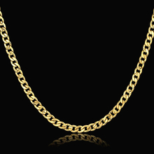 Vintage 48cm Gold-Color Necklace Fashion Mens Gold Chain Necklace Male Chain Golden Necklaces Hot Sale 2017
