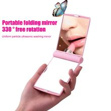 LED Mirror Makeup Cosmetic 8 LED Lights Lamps Folding Portable Compact Pocket Mirror Makeup Light Espelho Miroir