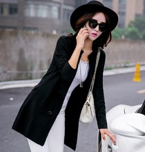 S-XL2016 in spring and autumn new loose sweater coat collar V thin long sleeved cardigan female long sweater coat JN100