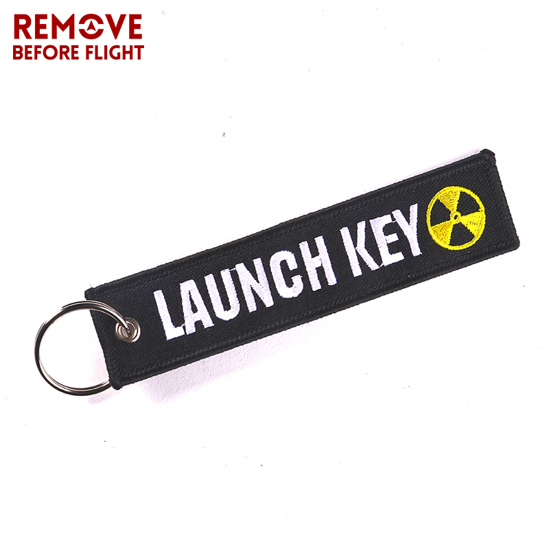Fashion Nuclear Launch Key Chain Bijoux Keychain for Motorcycles and Cars Gifts Tag Embroidery Key Fobs OEM Keychain Bijoux 1
