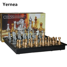 Chess set For High quality Chess Game Pieces Chess Magnetic Board Folding Plate Large Gold Silver Magnetic Reinforcement Yernea