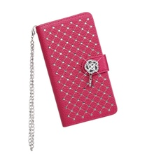 For Nokia Lumia 630 / 630 Dual SIM Case Starry Sky Rhinestone Litchi Grain Leather Stand Shell - 4.5 inch