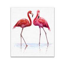F006 European style Flamingo No Frame Oil Painting Pictures Wall Art Pictures On the Wall Home Deco Pictures Canvas Poster