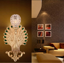 Hardcover peacock Wall Lamps series Mediterranean dining room entrance bar peacock southeast light LU809174(China)