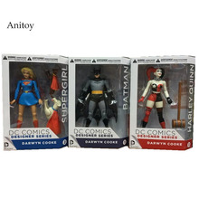 DC COMICS Designer Series Darwyn Cooke Batman Supergirl Harley Quinn PVC Action Figure Collection Model Toys 7 18cm(China)