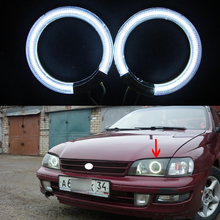 2pcs/pair Ccfl Angel Eyes kit White 6000k Ccfl Halo Rings Headlight for toyota carina e 1994 12V Car Parking Light source(China)