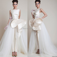 White Satin Tulle Mermaid Design Boat Neck Tiered Puffy Formal Long Evening Prom Dresses 2015 Vestido Longo