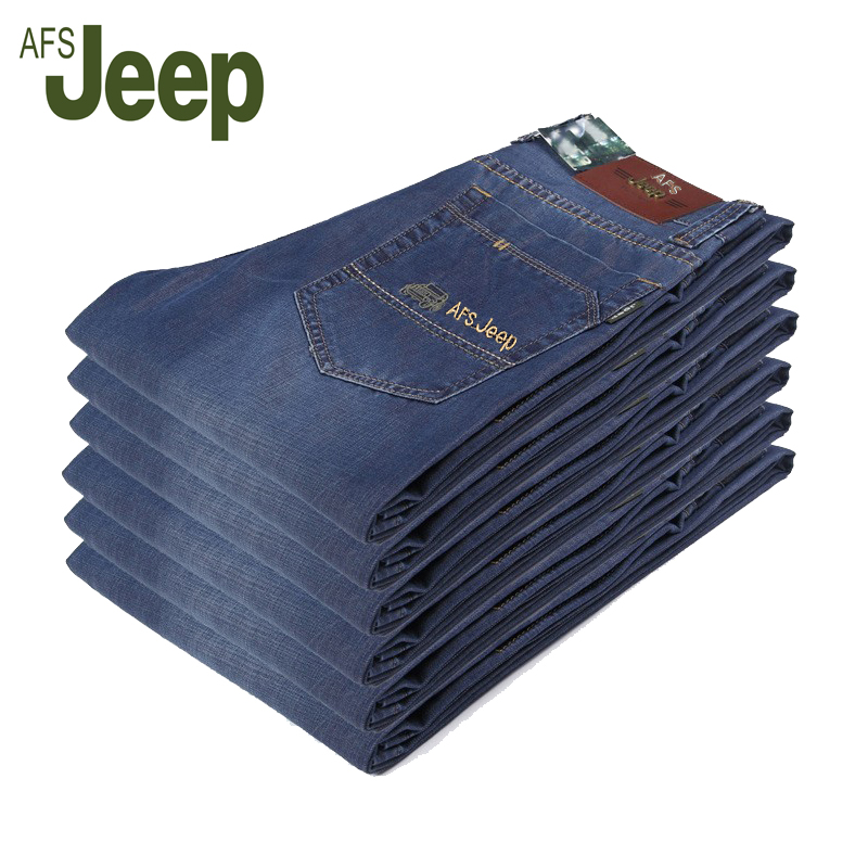 Hot 2017 New arrival brand AFS JEEP fashion mens jeans high quality pocket design nostalgic retro mens casual cotton jeans 65Одежда и ак�е��уары<br><br><br>Aliexpress
