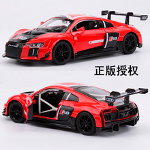 MINI AUTO 1:30 kids toys AUDI R8 metal toy cars model for children music pull back car miniatures gifts for boys
