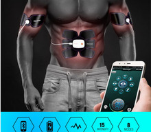 Smart EMS Electric Pulse Treatment Massager Abdominal Muscle Trainer Sports Muscle Stimulator Fitness Massage