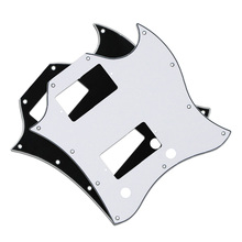 2pcs Black/White Color 3Ply SG Full Face Pickguards Scratch Plate for SG Style Guitar