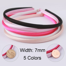 Wholesale diy headbands Plastic head bands Fashion tiara 7mm hair accessories, 40 pieces 5 colors packing Hairpins, hair bands