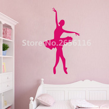Beauty Dancing Girl Mural Stickers Ballerina Art Decal for Room Decoration