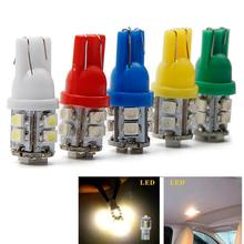 Dropshipping  Hot Sale New Car-styling 1X T10 LED W5W Warm White 10-SMD Car Side Wedge Light Lamp Bulb 194 168 2825 car styling