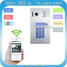 DIY Wireless Wifi IP Video Door Phone Wireless IP Intercom System Home Access Door Open Remote Control Camera Doorbell